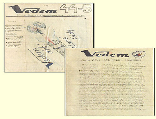 """Pages from the """"Vedem"""" Magazine, 1944"""