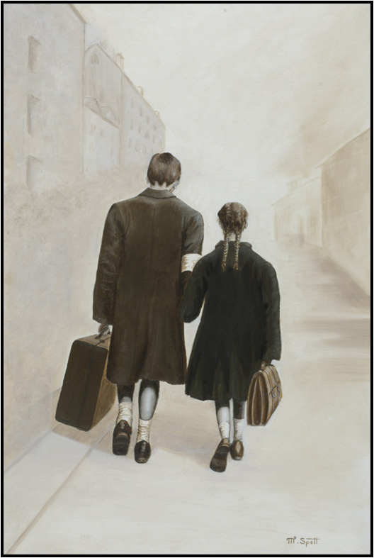 Martin Spett, My Sister and I, 1993. Oil on canvas.