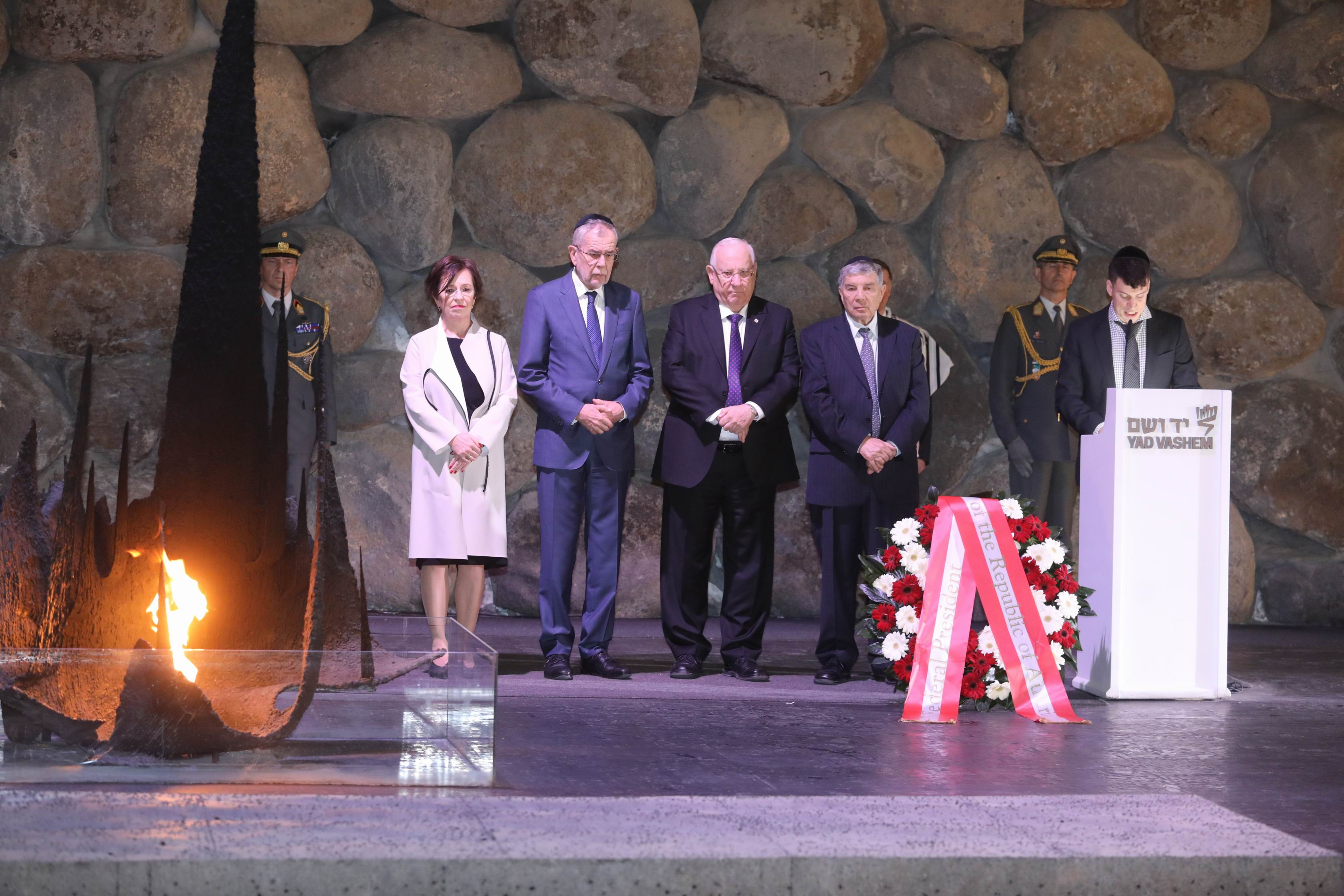 President Van Der Bellen participated in a memorial ceremony in the Hall of Remembrance together with Israeli President Reuven Rivlin