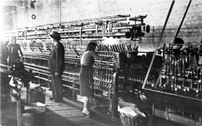 A textile factory in the ghetto