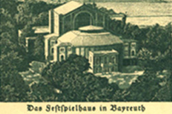 Image of Bayreuth Festival Theater, Bayreuth, Germany, Taken from Postcard, 1933