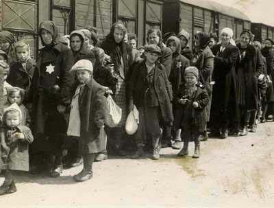 Arrival of Hungarian Jews on the ramp at Auschwitz-Birkenau, May 27th 1944
