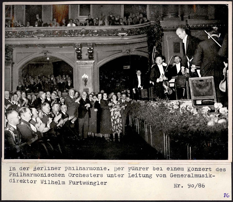 Berlin, Germany, Hitler at a concert conducted by Wilhelm Furtwaengler