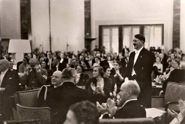 Berchtesgaden, Germany, March 1939, Hitler hosting a charity concert at his home