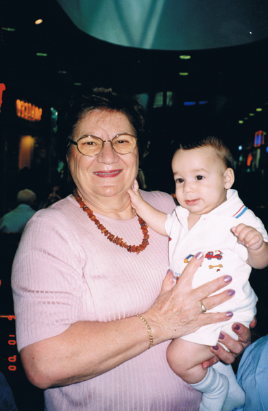 Shela Altaraz and her grandson