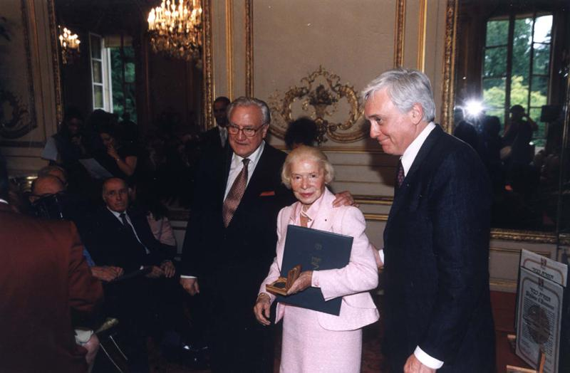 Madame Carven at the ceremony in her honor, Paris