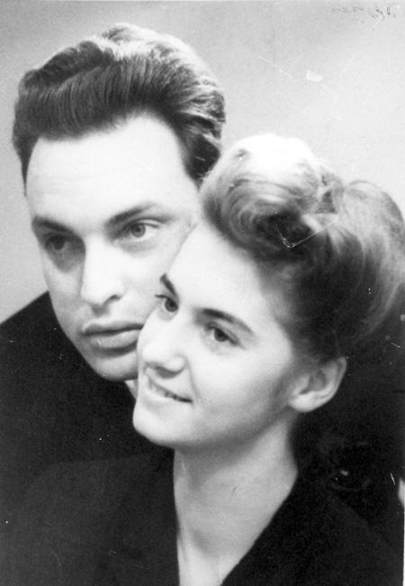 Clara Ambrus with her husband, 1945