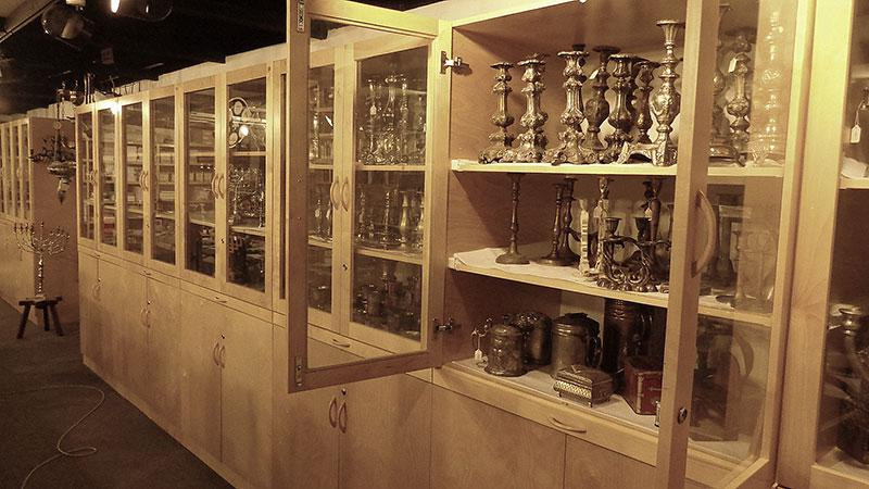 Overview of the storage cupboards in the main store room of the Yad Vashem Museum