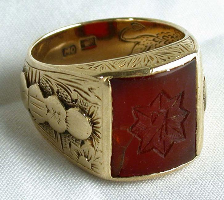 One of twin rings used as a special means of identification in secret encounters between the commanders of the Jewish Military Union in the Warsaw Ghetto and commanders of the Polish underground