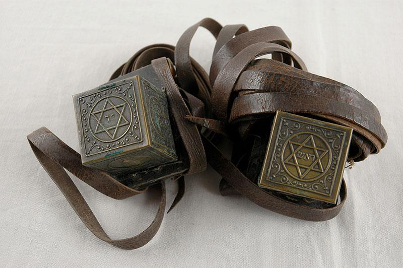 Tefillin (phylacteries) that Zvi Nojman had with him throughout the war and continued to use during his life in Israel