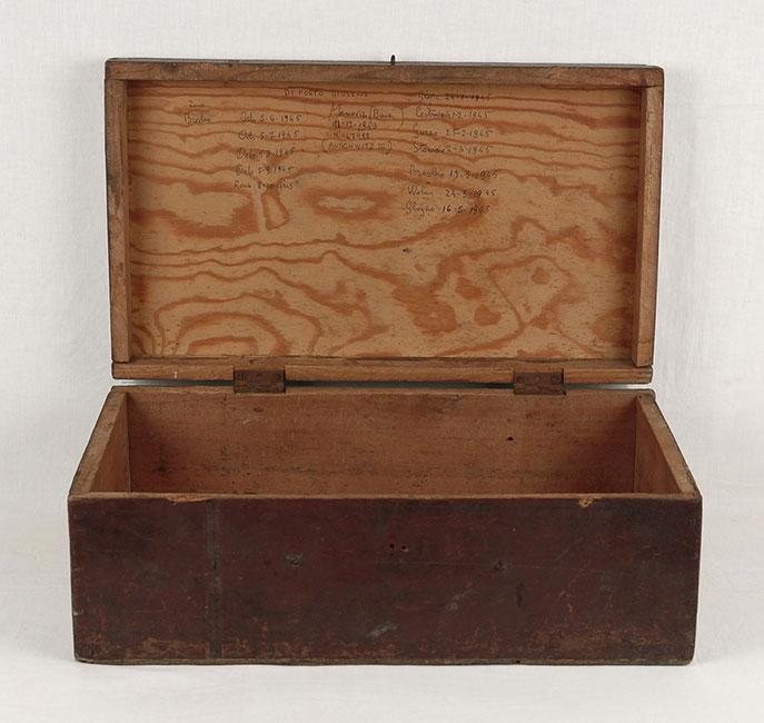 The suitcase that Giuseppe Di Porto found after escaping the death march