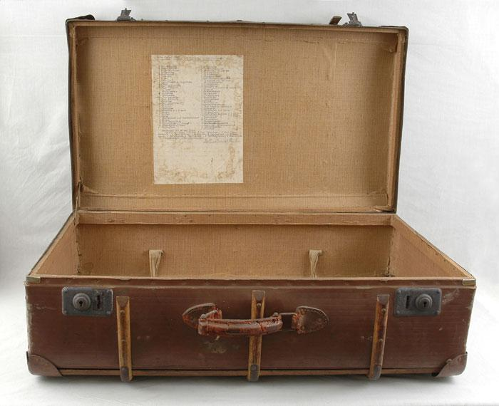 One of the suitcases used by Heinz Finke who left Germany on the Kindertransport to England