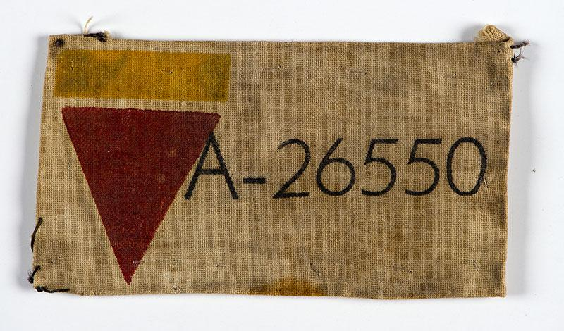 Rosa Sperling's camp number from Auschwitz