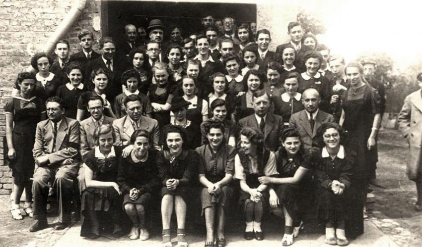 A group of students and their teachers from the Hebrew Gymnasium in Czestochowa, Poland, June 1939