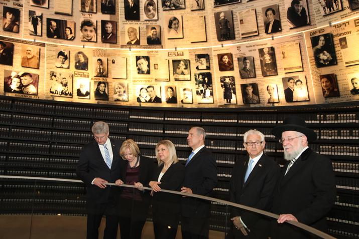 On 21 January 2014, Prime Minister of Canada Stephen Harper visited the Hall of Names at Yad Vashem.