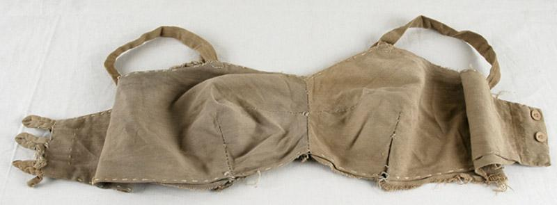A bra that Lina Beresin made in Stutthof forced labor camp
