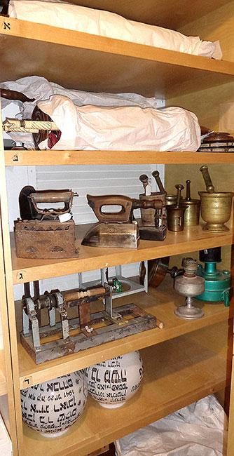 Household items and Torah scrolls that survived the Holocaust, in the Yad Vashem Museum Collection