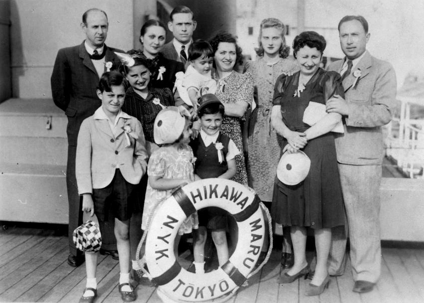Jewish Refugees on board the Japanese ship Hikawa Maru, June 1941