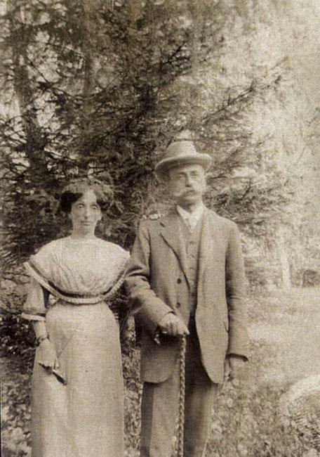 Carlo Lovvy and Linda née Lattes, in a photo preserved by a relative, Silvia Calderoni Foa