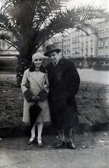 Pavel and Grete Bader on vacation in Italy, 1928