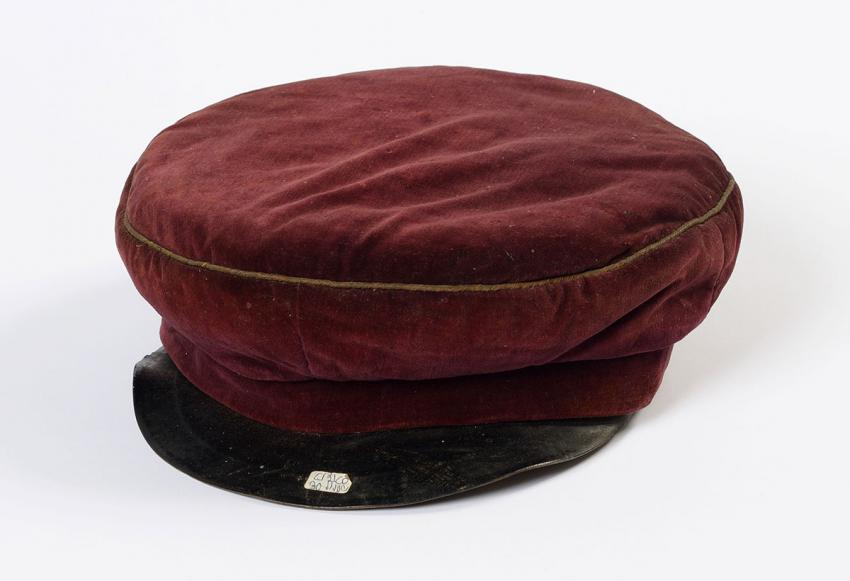 "Shmuel Borstein's cap, part of the school uniform of the Jewish Real (""Reali"") Gymnasium in Kovno, Lithuania"