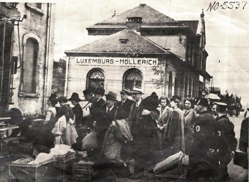 Deportation of Jews from Hollerich, Luxembourg, by the local police, September 19, 1942