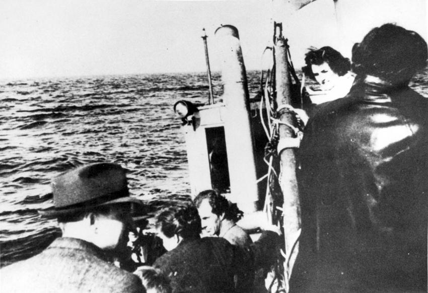 Danish Jews being smuggled by ship to Sweden, October 1943