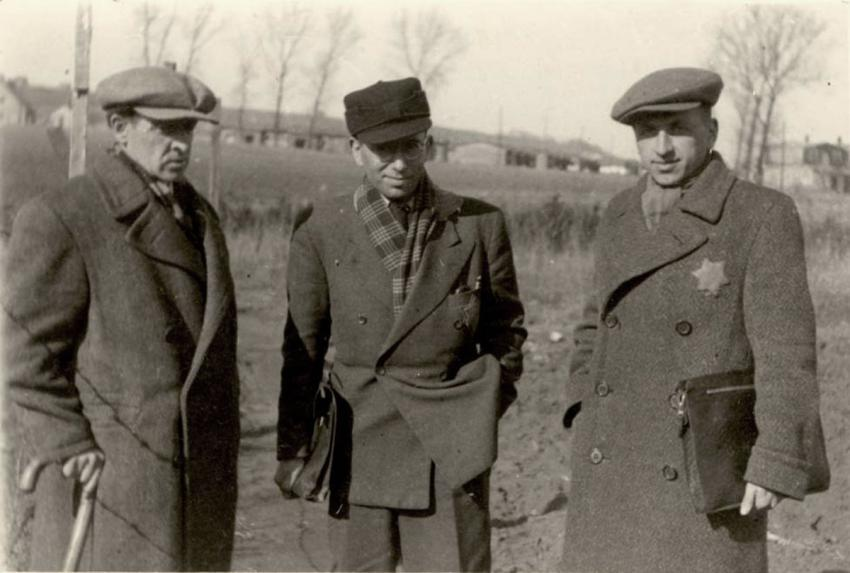 Three members of the Judenrat in Kaunas (Kovno), Lithuania, March 1943