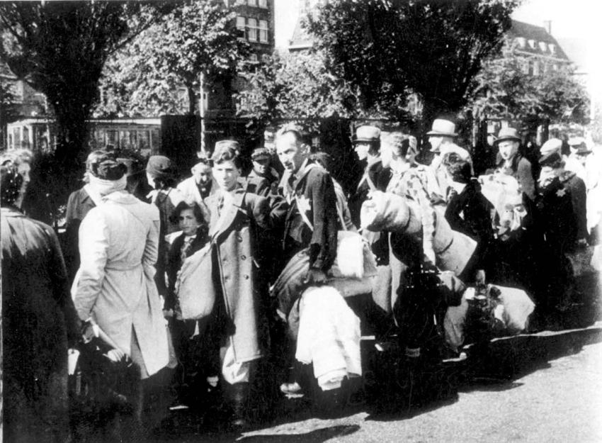 Jews being deported to Westerbork Transit Camp, July 1942