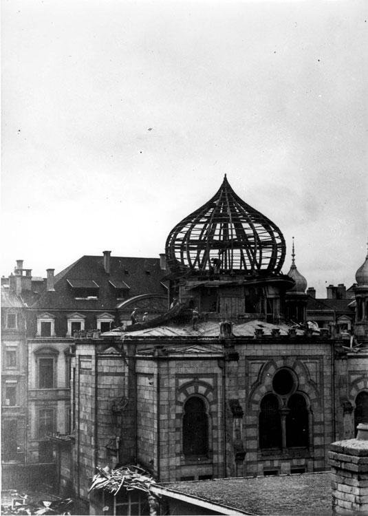 A synagogue in Luxembourg that was destroyed, August 1943
