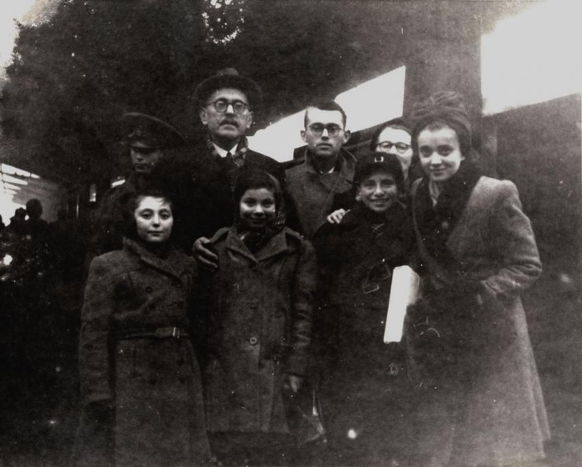Children from Transnistria in Bucharest, Romania, December 1944