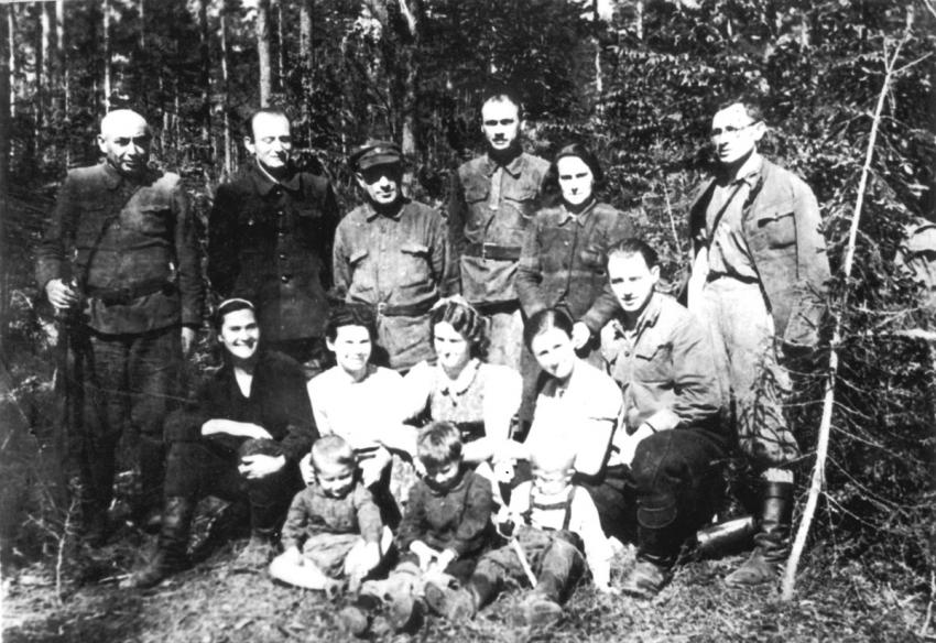 Members of the Bielski Family Camp in the Naliboki Forest, May 1944