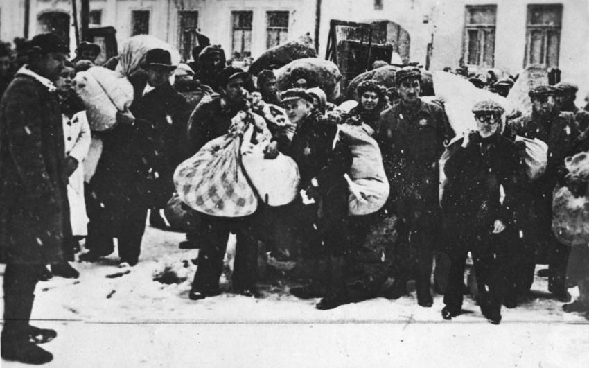 Deportation of Jews from Ghetto One in Grodno, Poland