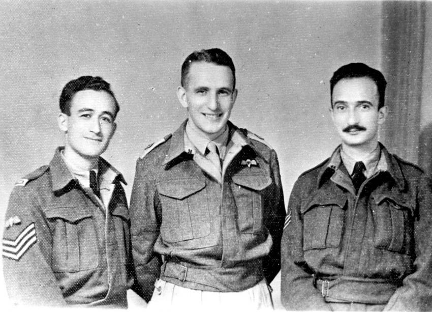 Three paratroopers from Eretz Israel in Mandatory Palestine, October 1944