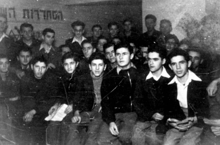 Hashomer Hatzair activists in Bucharest, Romania, December 1944
