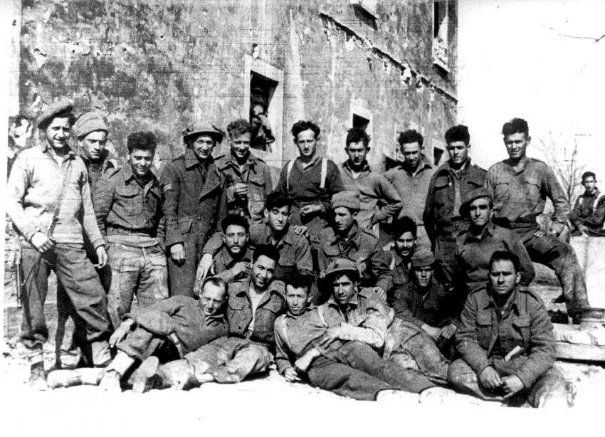 Members of the Jewish Brigade in Italy, March 1945