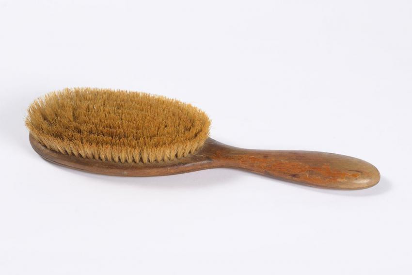 Lila Bromberg's hairbrush, one of the few things Esther took with her when she escaped from the Warsaw ghetto