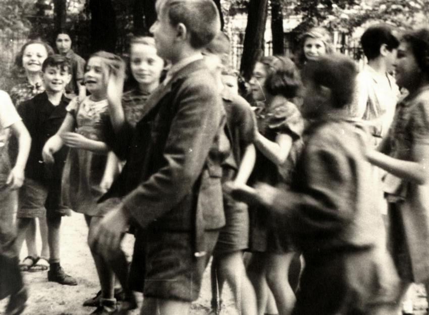 A group of children in Theresienstadt, June 23, 1944