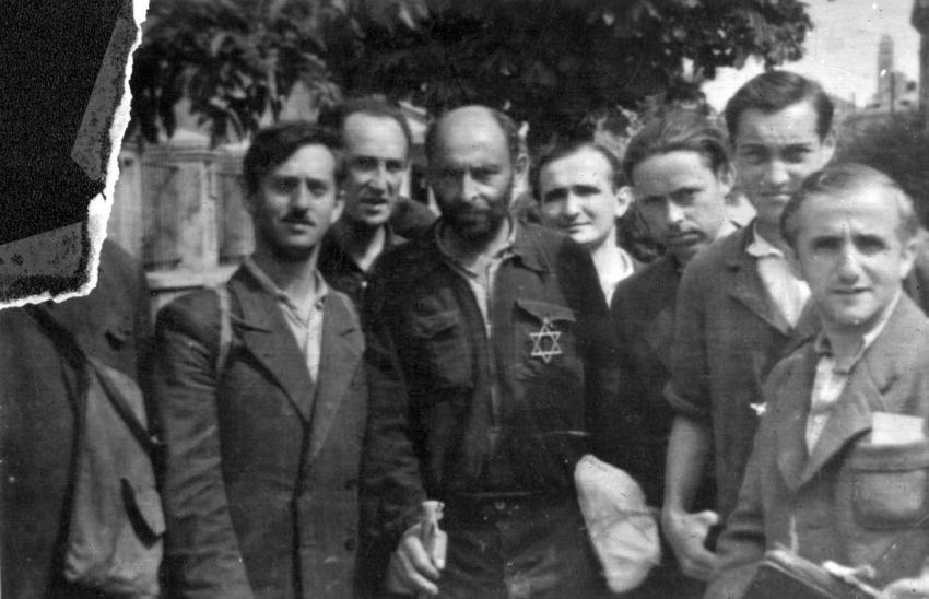 A group of survivors from Kovno, Lithuania, August 31, 1944