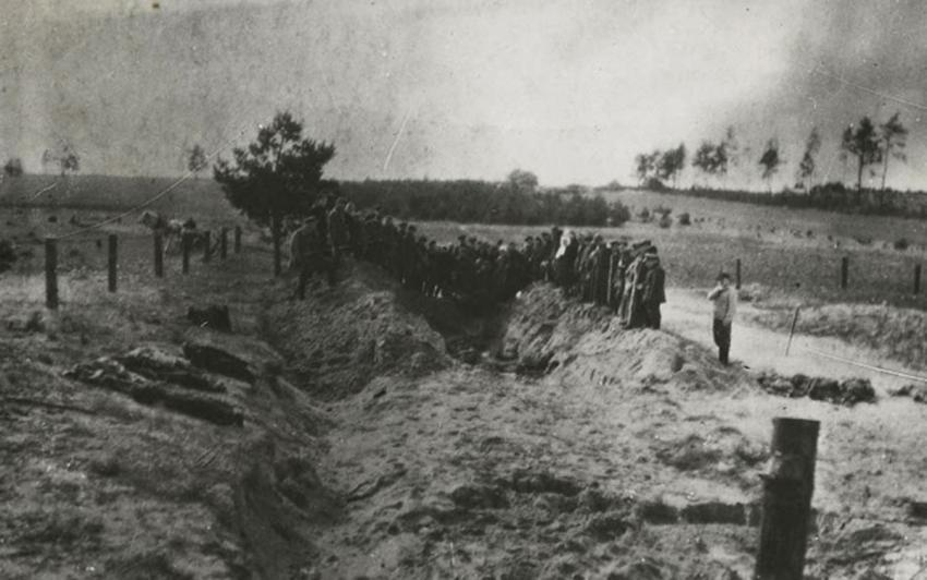 Mass Grave of Murdered Jews Discovered near Iwje, Poland, November 1945, November 12, 1945