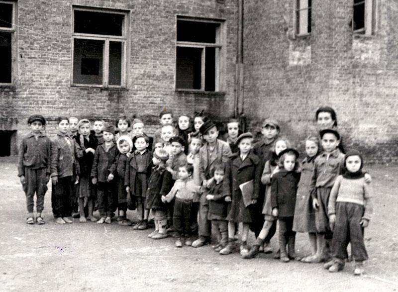 Jewish children who were hidden on the Aryan side, Lublin, Poland