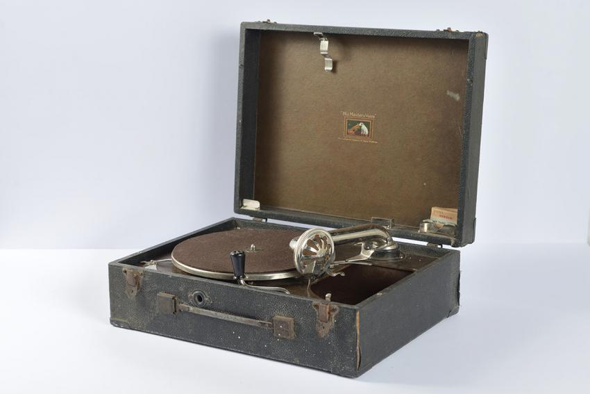 Gramophone that a German officer gave to a mother and her child