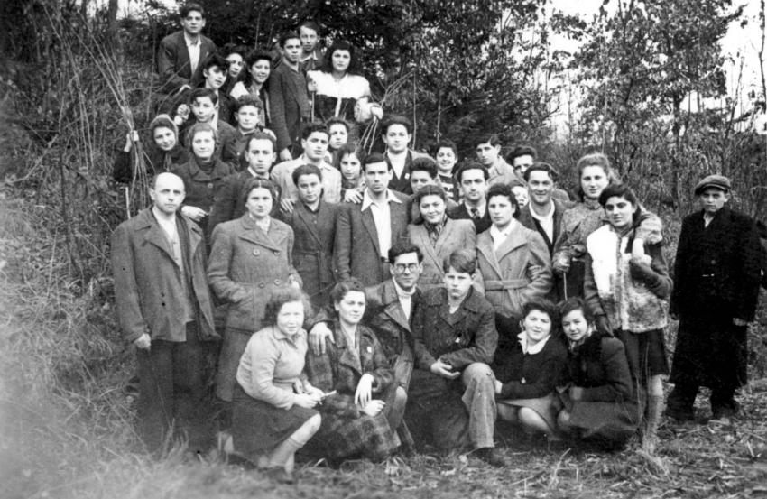 A Group of young people at the Deggendorf DP Camp, Germany