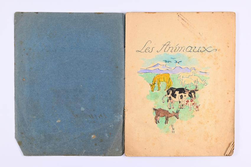 The cover of the picture book illustrated by Hilde Koch Neuberger in the Gurs internment camp, 1941. Yad Vashem Artifacts Collection