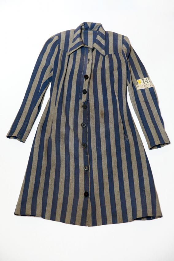Dress that Ruth Bensinger wore in the Kaiserwald concentration camp