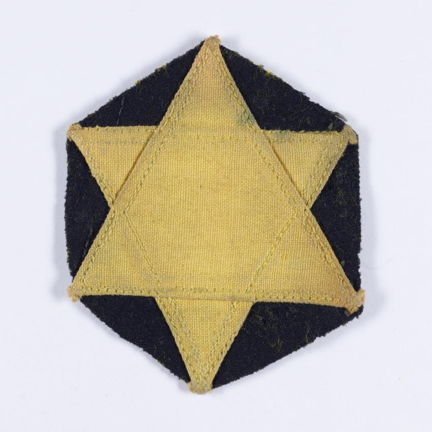 Jewish badge that belonged to the Leib family from Iasi, Romania.
