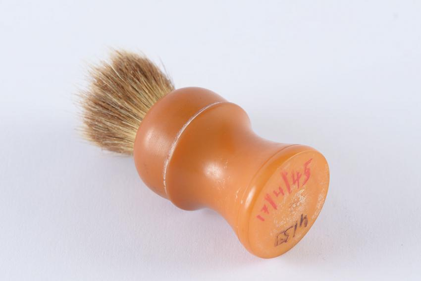 Shaving brush that Jacki Handeli received after liberation at Bergen-Belsen
