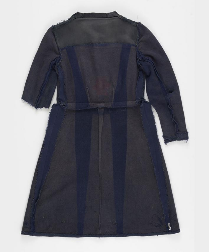 Coat that Chaya Shwarzman Kaplan received in the Stutthof camp and had remade into a dress after the war