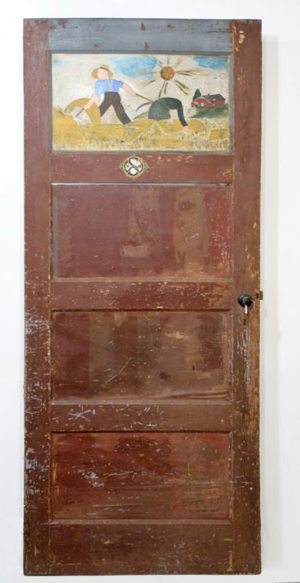 Door from the home of Willem and Gerritdina van der Sluis  in the Netherlands, which Sallie Lindeman decorated while hiding in their home.