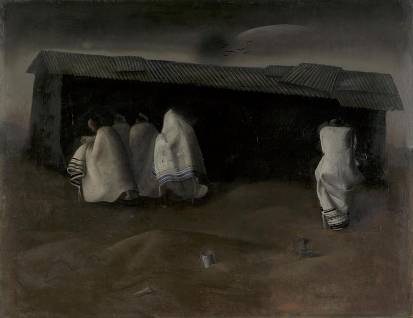 "Felix Nussbaum. ""The Camp Synagogue at St. Cyprien"""